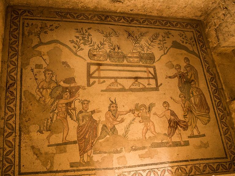 mosaic in villa of casale
